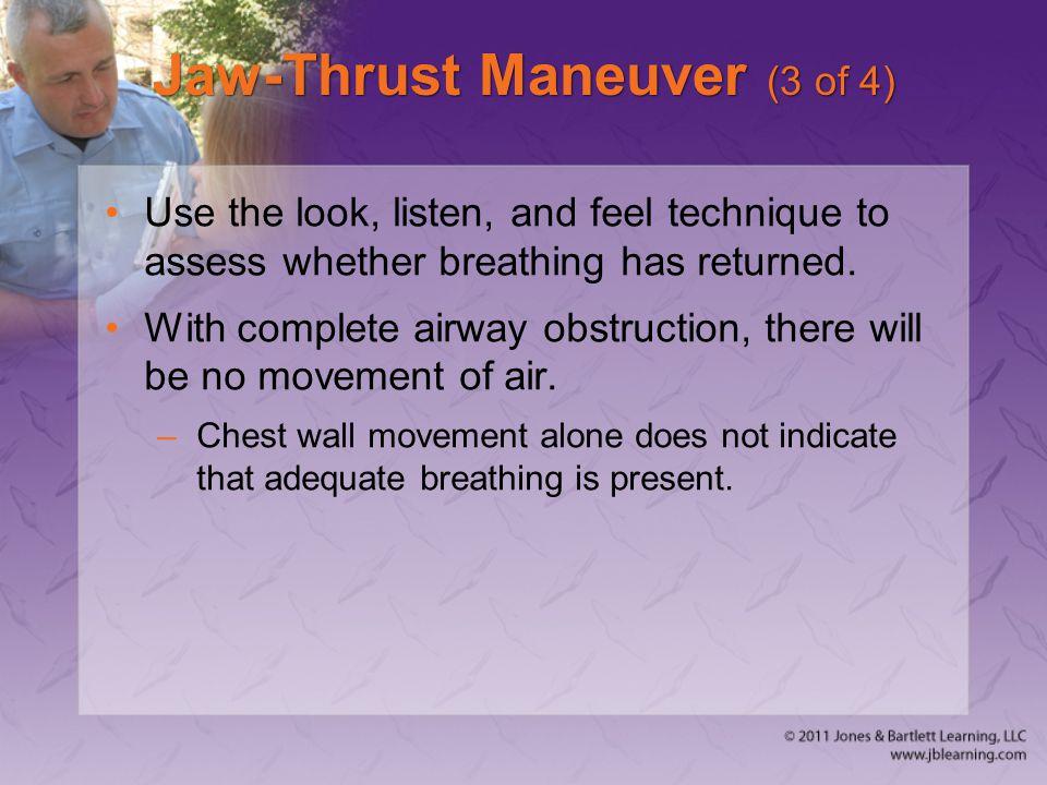 Jaw-Thrust Maneuver (3 of 4)
