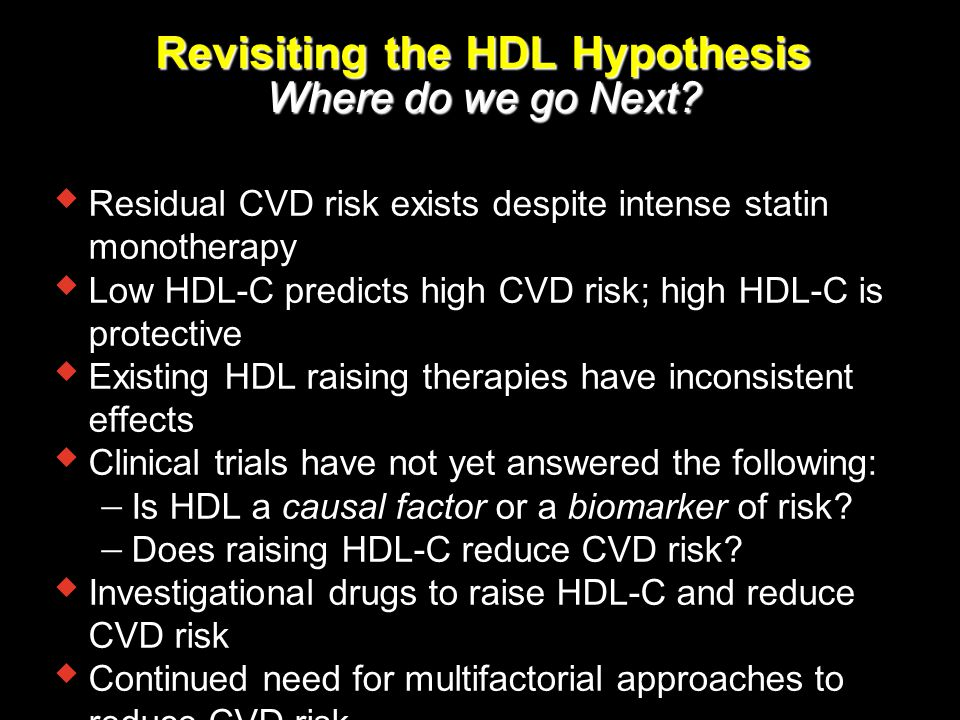 Revisiting the HDL Hypothesis Where do we go Next