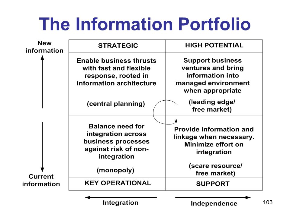 The Information Portfolio