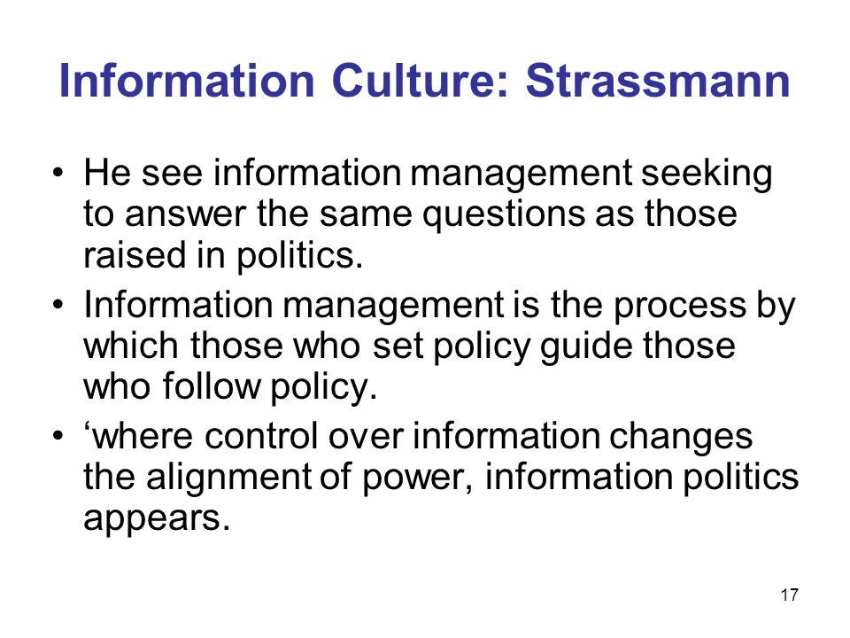 Information Culture: Strassmann