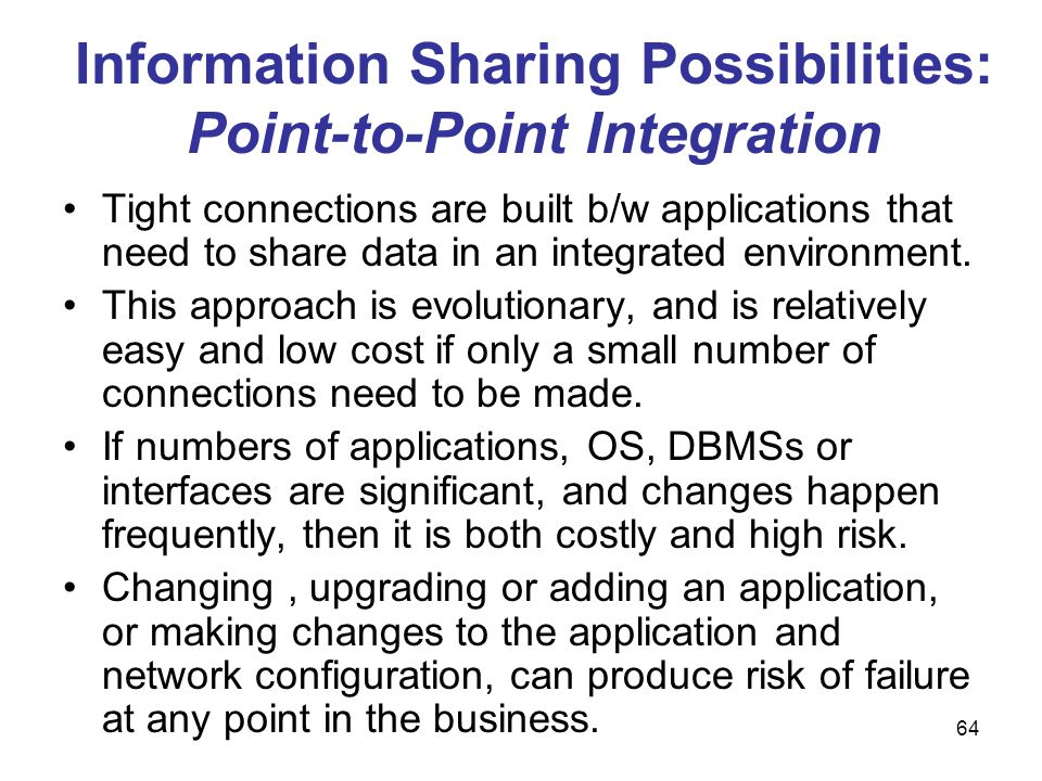 Information Sharing Possibilities: Point-to-Point Integration