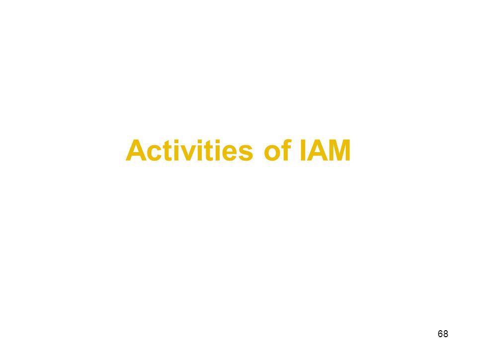 Activities of IAM