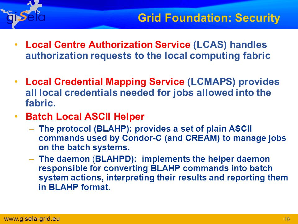 Grid Foundation: Security