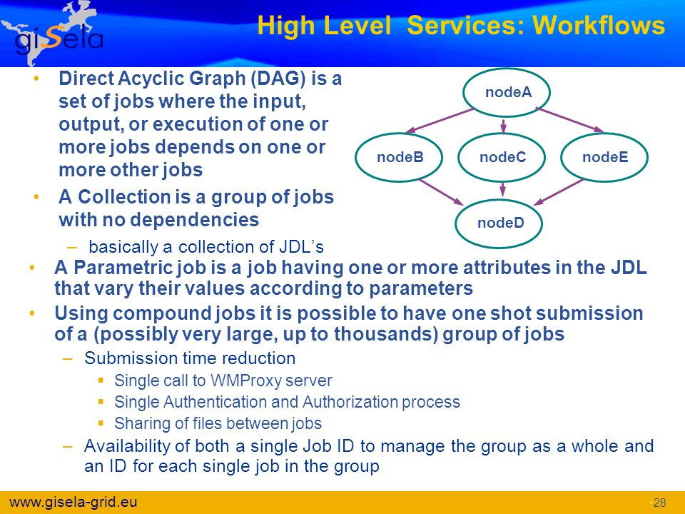 High Level Services: Workflows