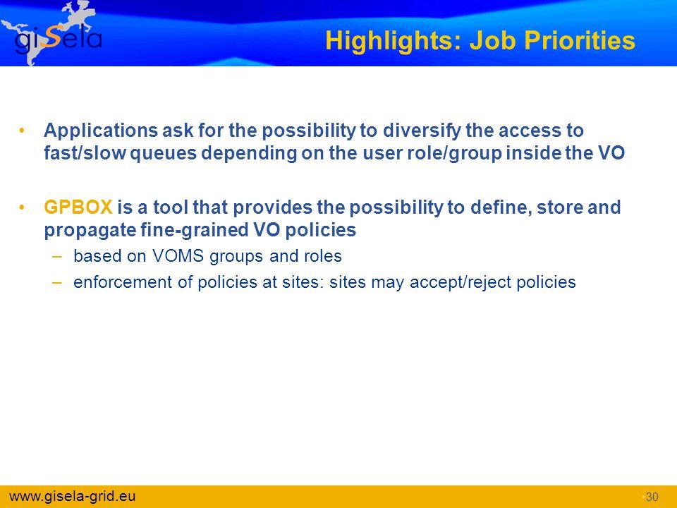 Highlights: Job Priorities
