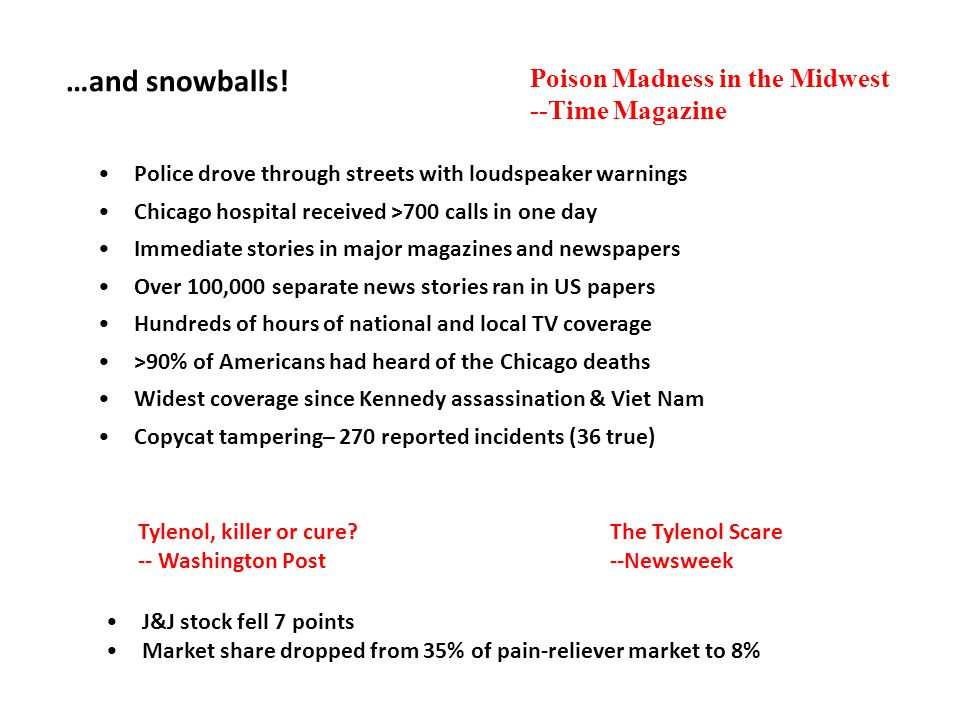 …and snowballs! Poison Madness in the Midwest --Time Magazine