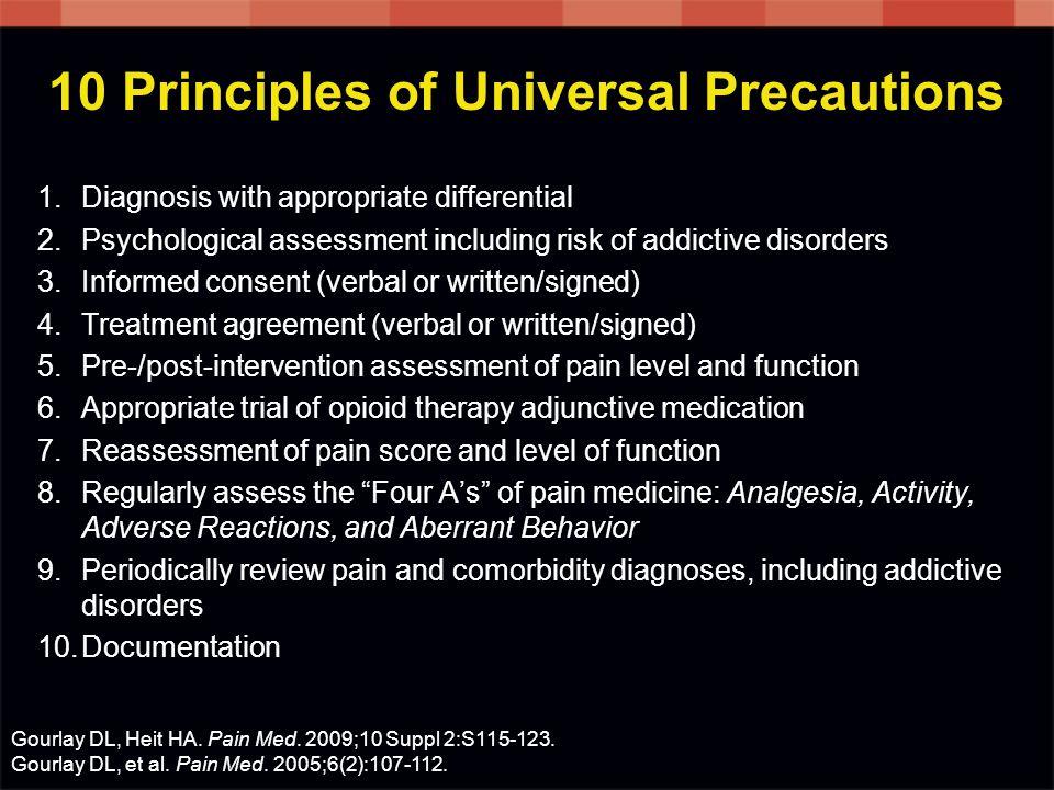 10 Principles of Universal Precautions