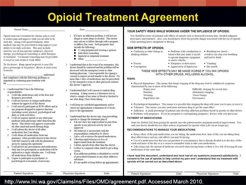 Opioid Treatment Agreement