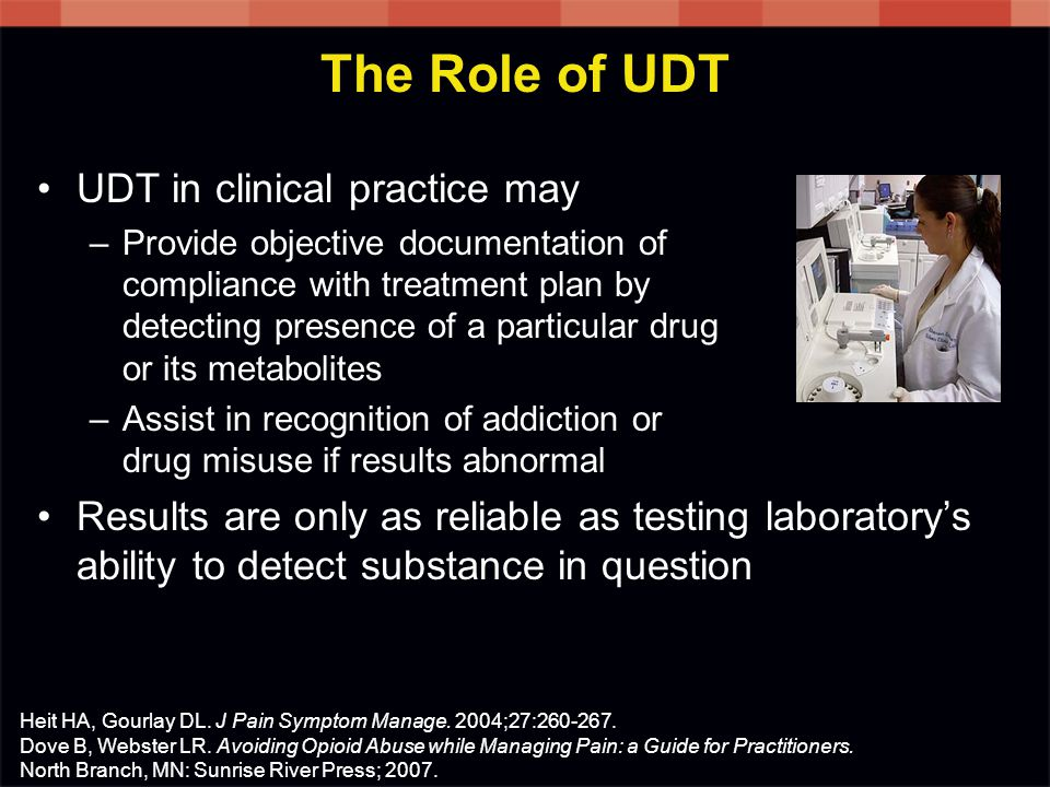 The Role of UDT UDT in clinical practice may