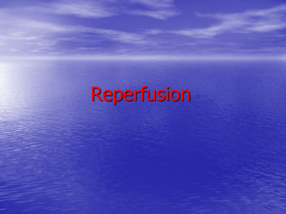 Reperfusion