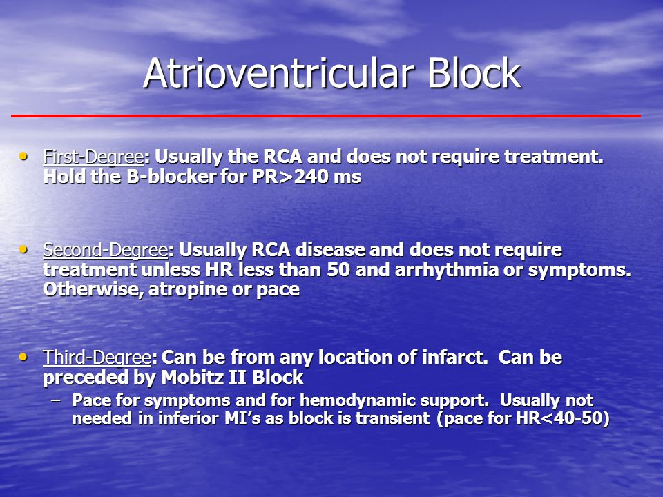 Atrioventricular Block