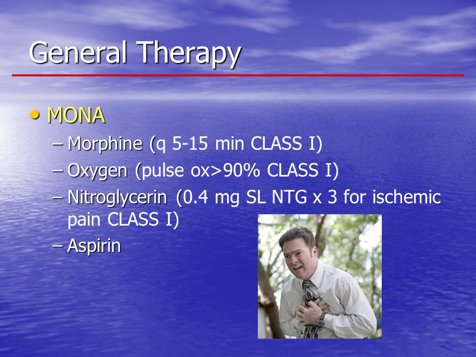 General Therapy MONA Morphine (q 5-15 min CLASS I)