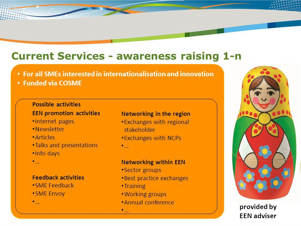 Current Services - awareness raising 1-n