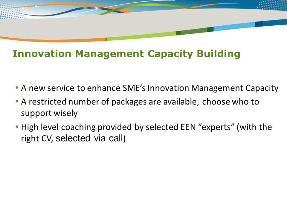 Innovation Management Capacity Building