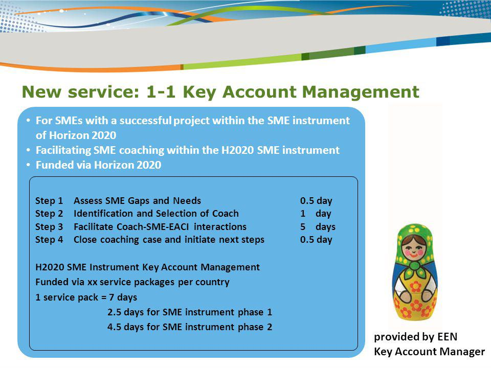 New service: 1-1 Key Account Management