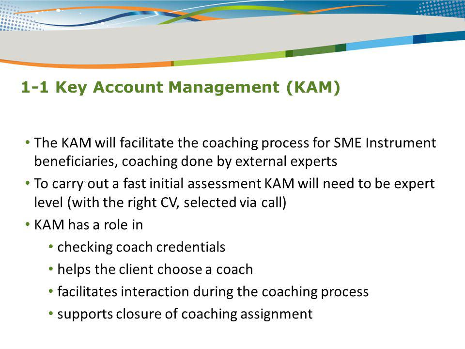 1-1 Key Account Management (KAM)