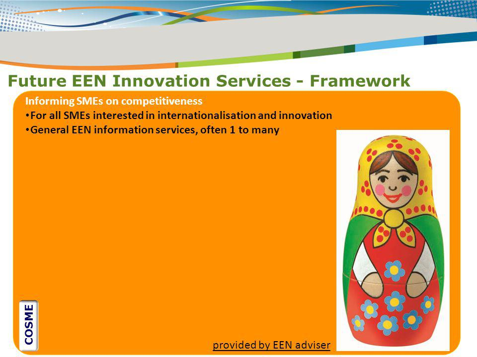 Future EEN Innovation Services - Framework
