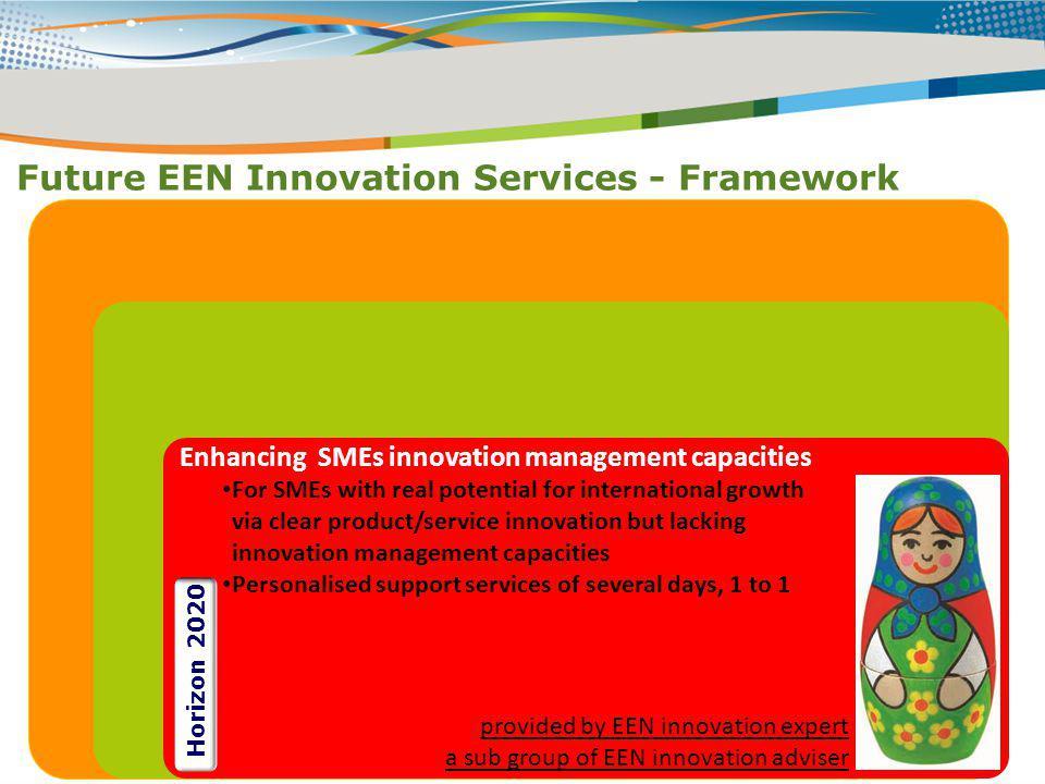 Future EEN Innovation Services - Framework