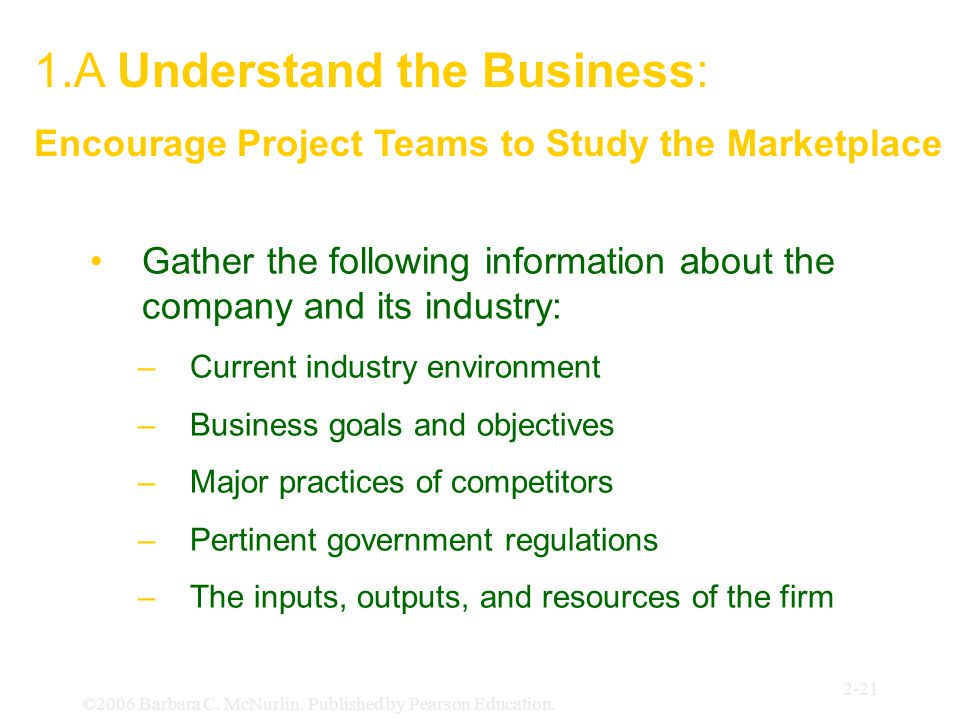 1.A Understand the Business: