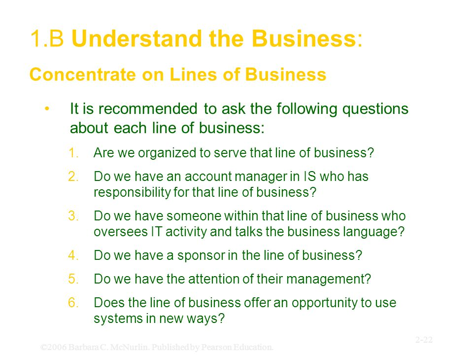 1.B Understand the Business: