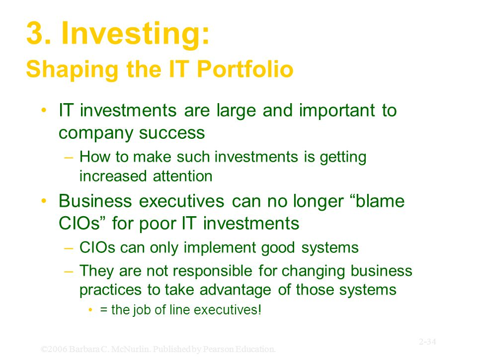 3. Investing: Shaping the IT Portfolio