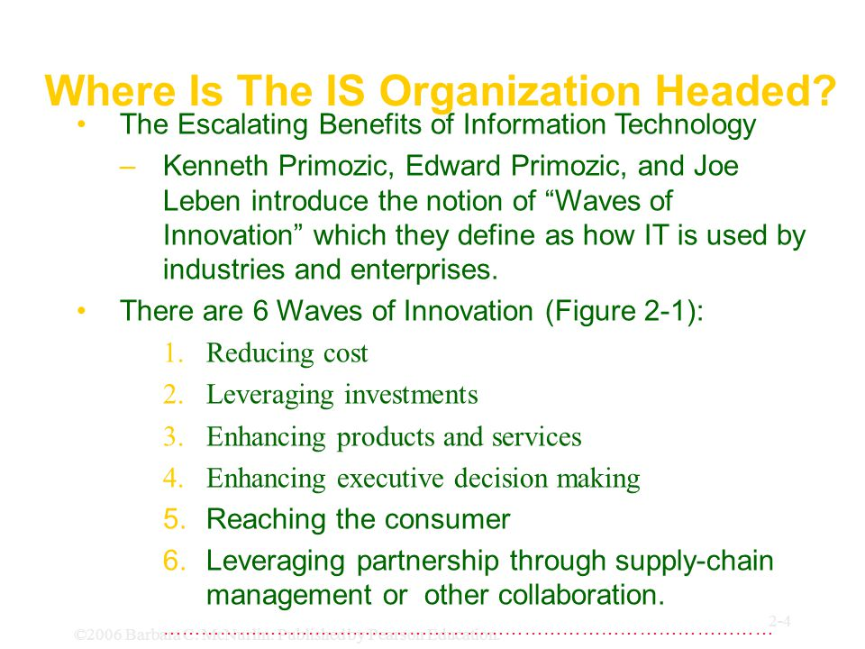 Where Is The IS Organization Headed