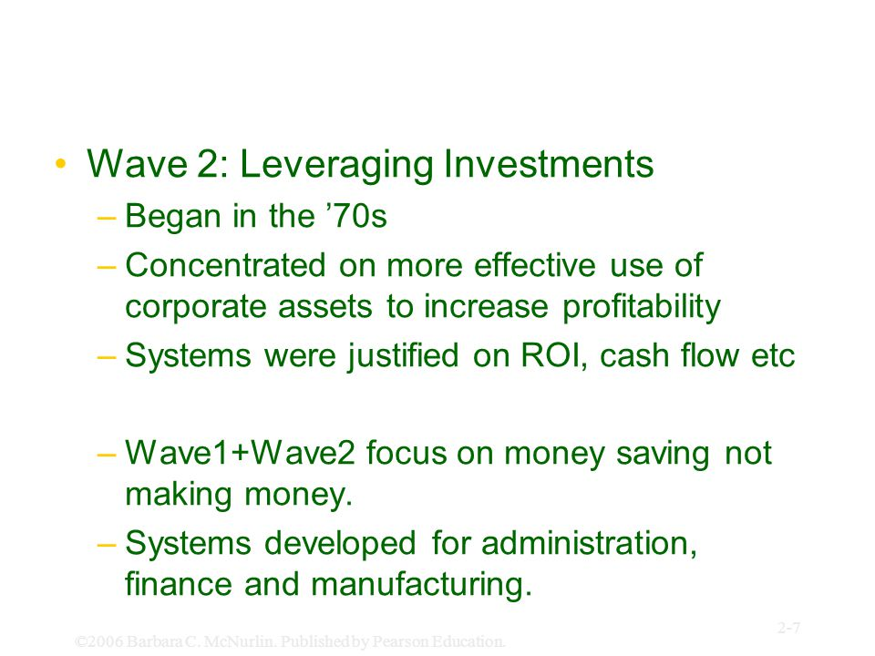 Wave 2: Leveraging Investments