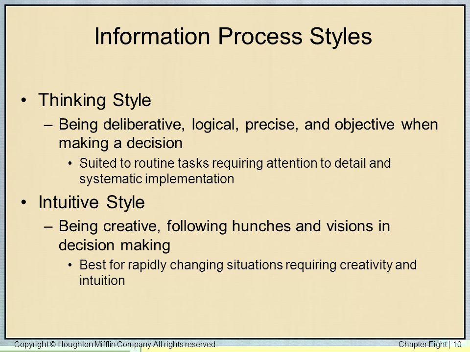 Information Process Styles