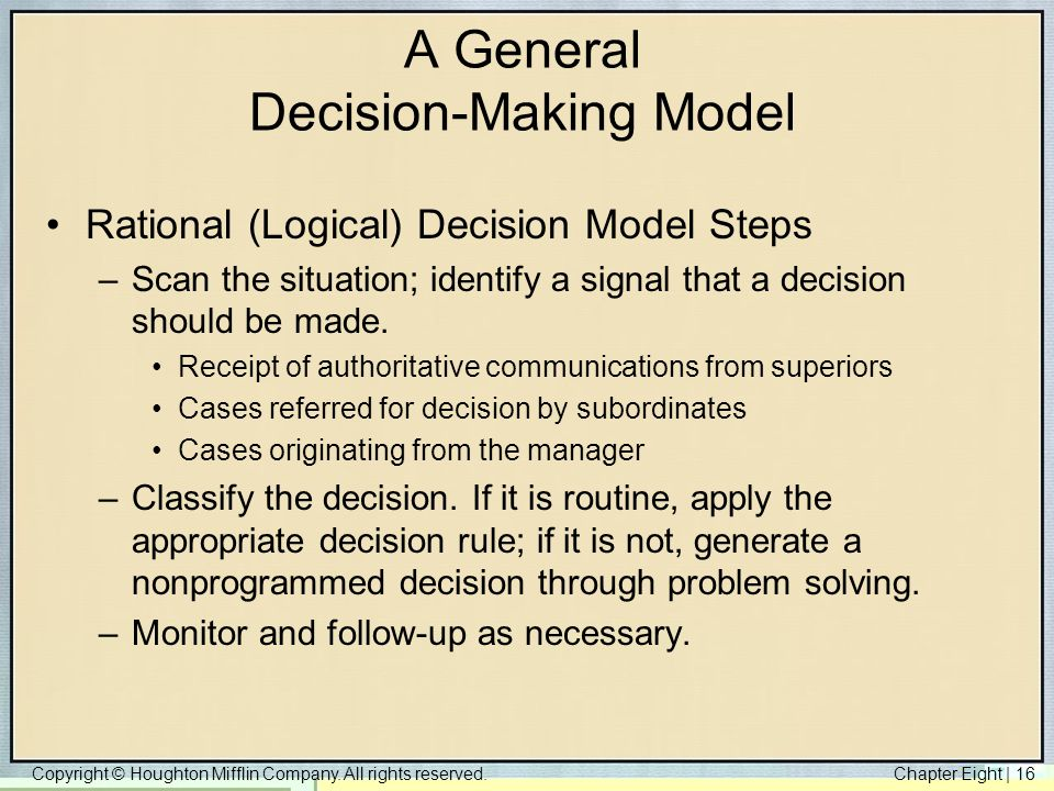 A General Decision-Making Model
