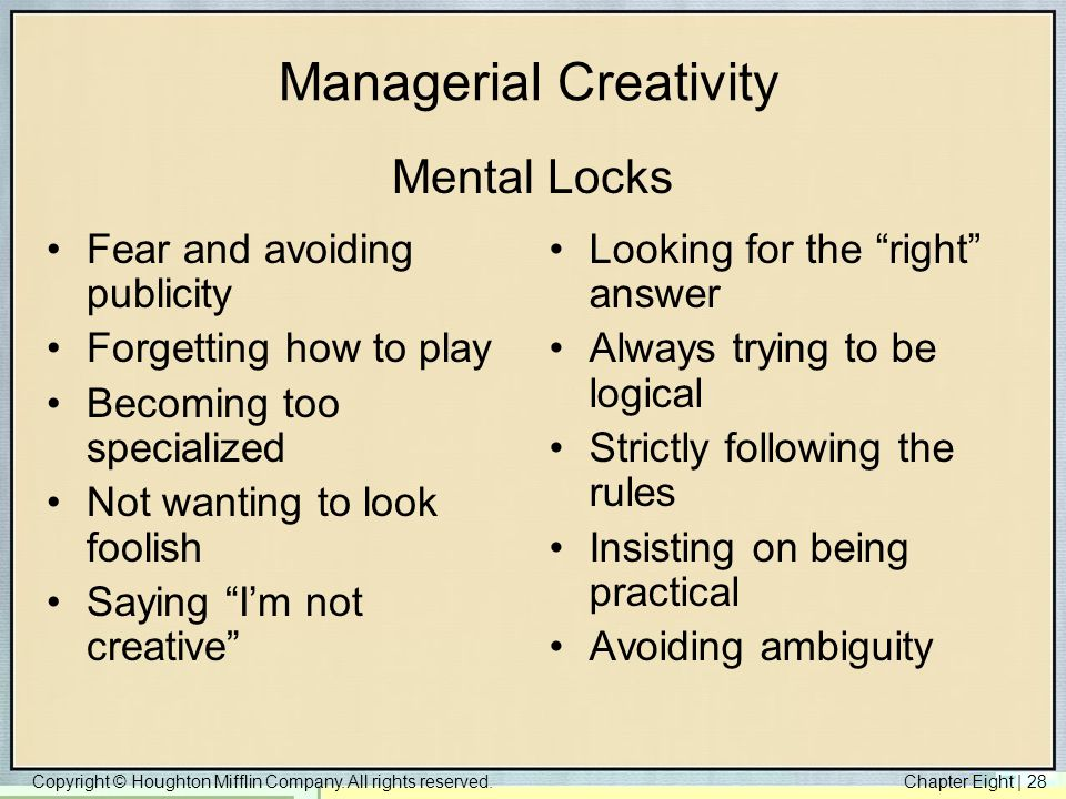 Managerial Creativity