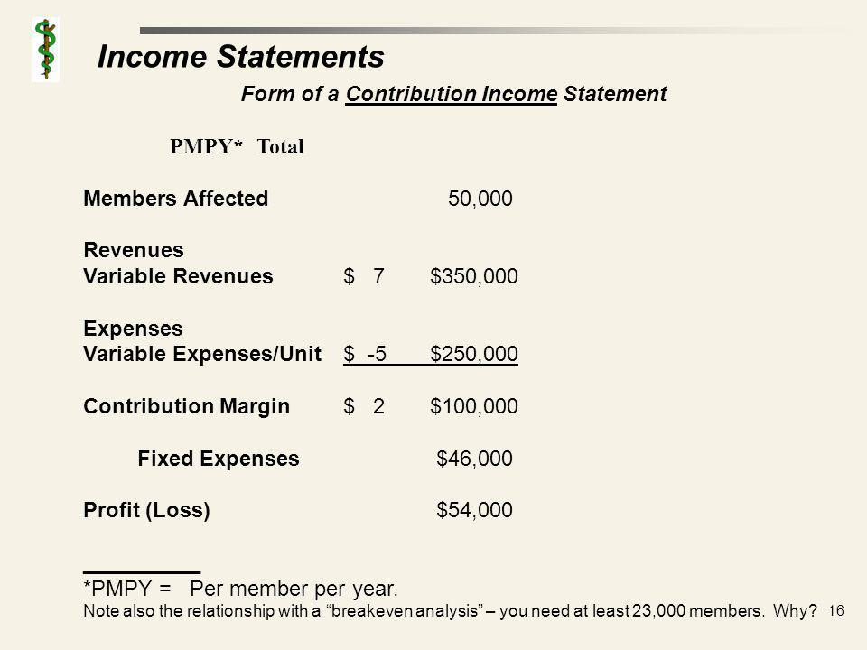 Income Statements: Activity Based Cost Accounting – ABC