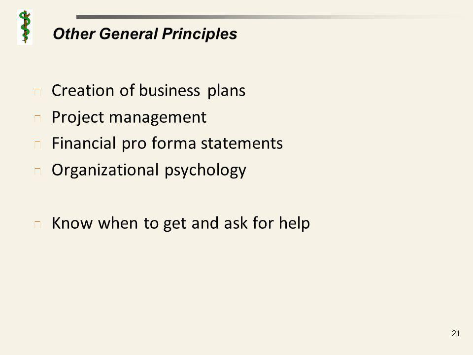 Business Plans Key elements of a business plan, each typically described in a few paragraphs, include: