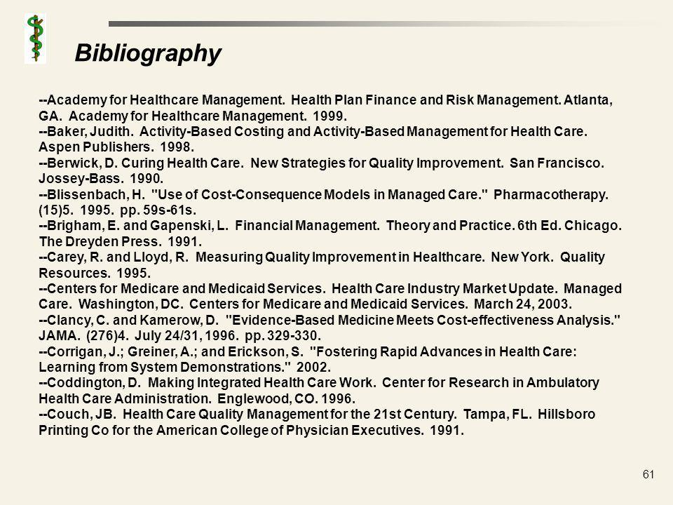 Bibliography --Crosby, P. Quality is Free. New York. New American Library. 1979.