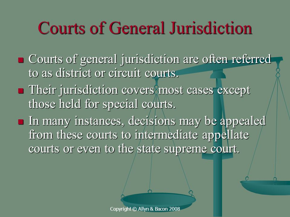 Courts of General Jurisdiction