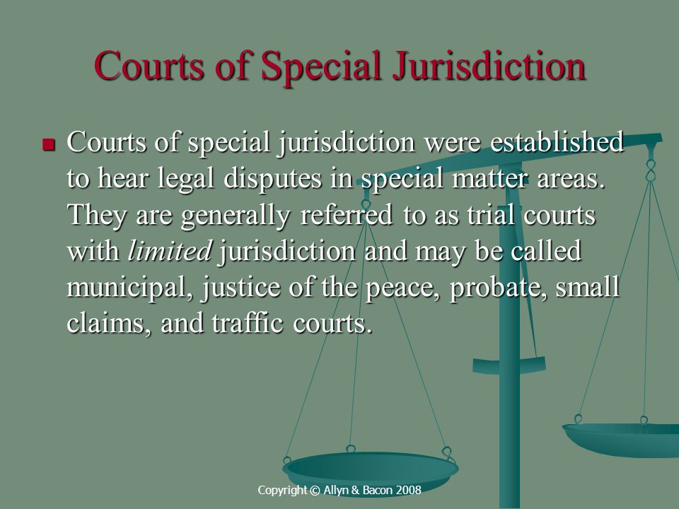 Courts of Special Jurisdiction