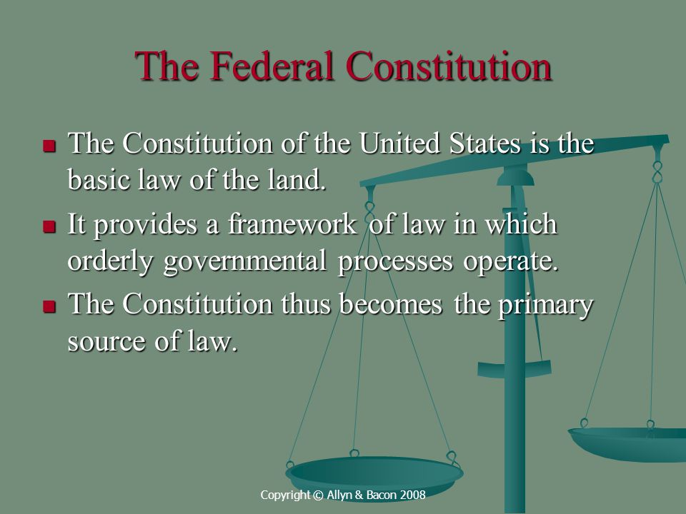 The Federal Constitution