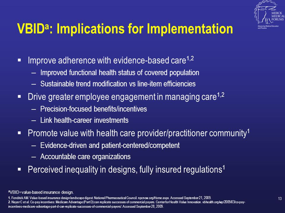 VBIDa: Implications for Implementation