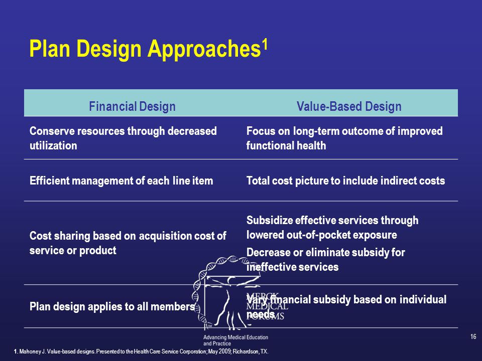 Plan Design Approaches1