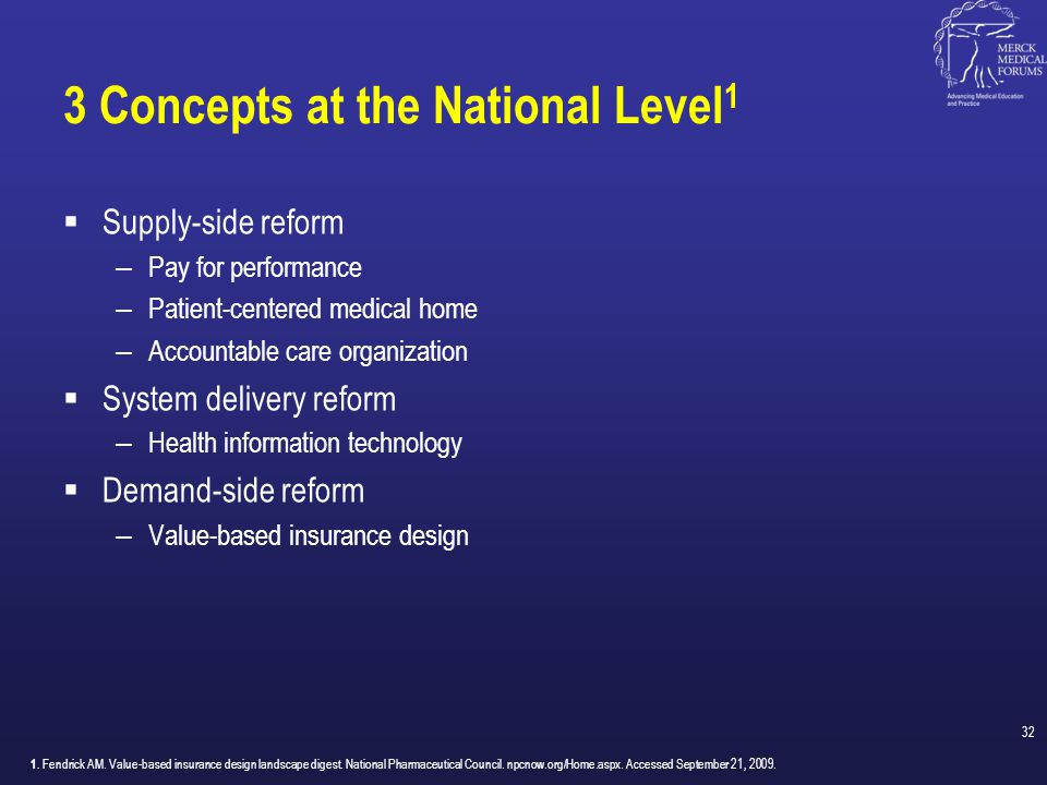 3 Concepts at the National Level1