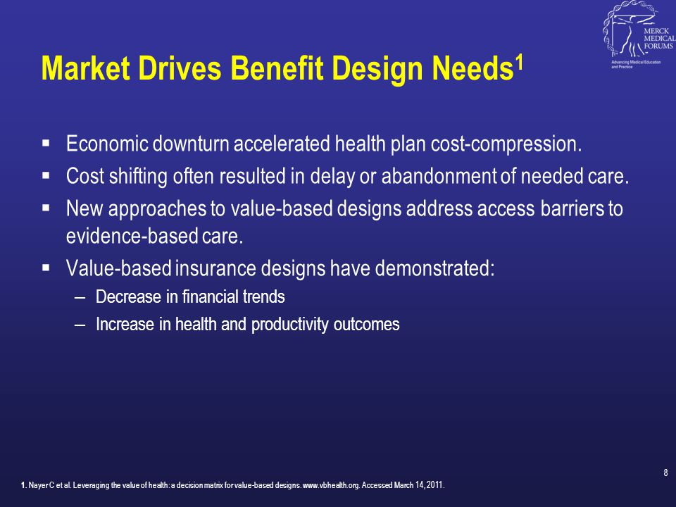 Market Drives Benefit Design Needs1