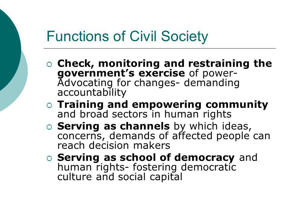 Functions of Civil Society