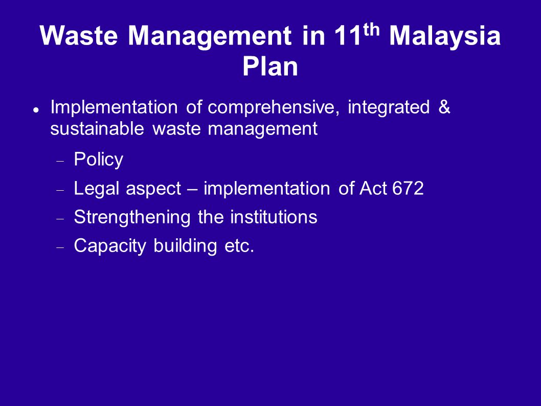 Waste Management in 11th Malaysia Plan