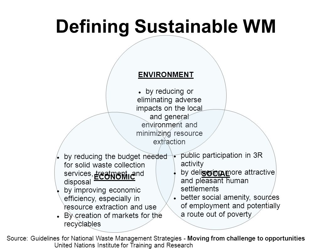 Defining Sustainable WM