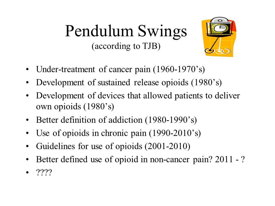 Pendulum Swings (according to TJB)