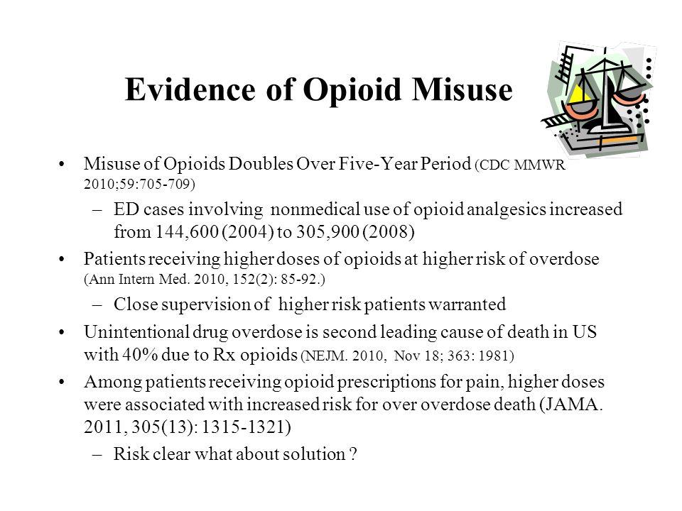 Evidence of Opioid Misuse