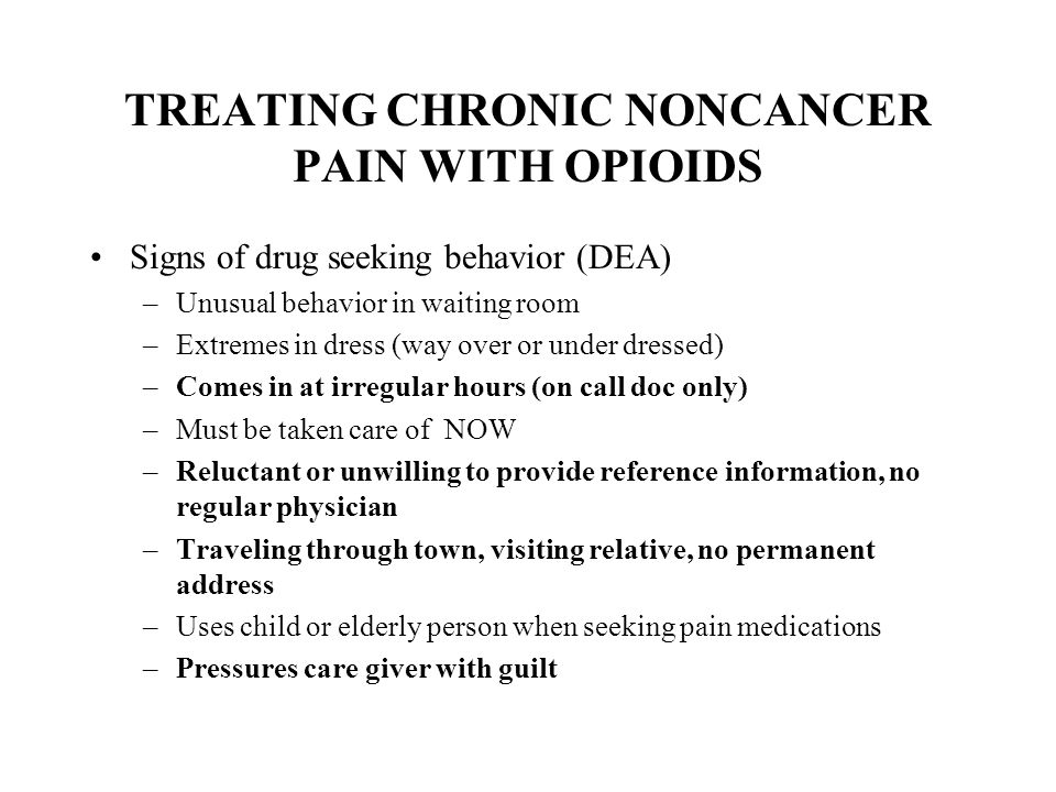 TREATING CHRONIC NONCANCER PAIN WITH OPIOIDS