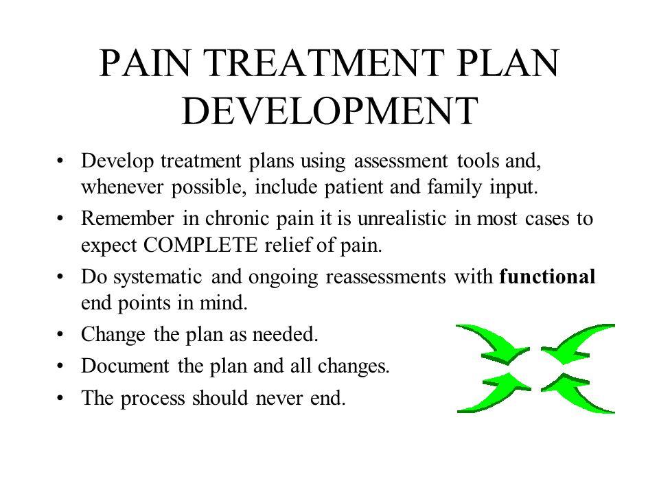 PAIN TREATMENT PLAN DEVELOPMENT