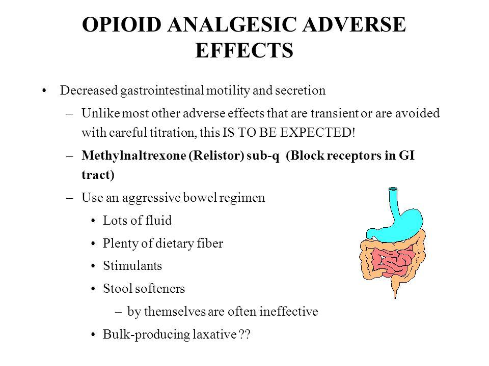 OPIOID ANALGESIC ADVERSE EFFECTS