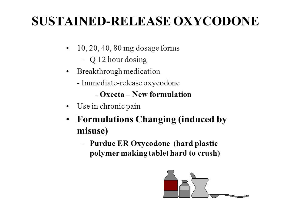 SUSTAINED-RELEASE OXYCODONE