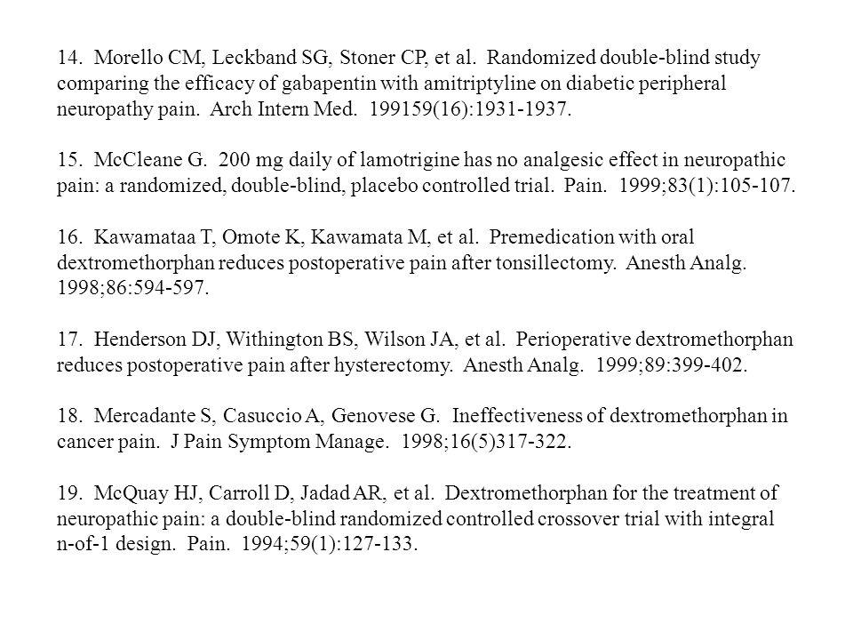 14. Morello CM, Leckband SG, Stoner CP, et al